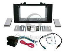 Radio Dash Kit Combo Standard 2DIN RUBBERIZED BLACK + Wire Harness + Antenna V25
