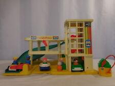 Little People Fisher-Price working parking garage + People + Car + Boat  Vintage