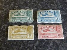 INDIA AIR MAIL POSTAGE STAMPS SG220-1,223-225 LMM 1929