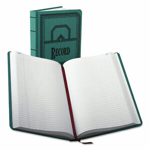 Boorum & Pease Record/Account Book Record Rule Blue 500 Pages 12 1/8 x 7 5/8