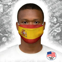 Spain Flag Face Mask with Heraldry - Washable,reusable,soft -Free shipping