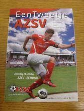 28/10/2017 Aaltense Zaterdag Sport Vereniging v Eemdijk  (4 Pages). Bobfrankande