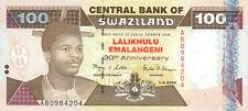 Swaziland P-33 100 emalangeni 2004 30th Anniversary UNC