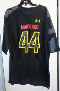 Maryland Terrapins black Under Armour football jersey LARGE NWOT black #44