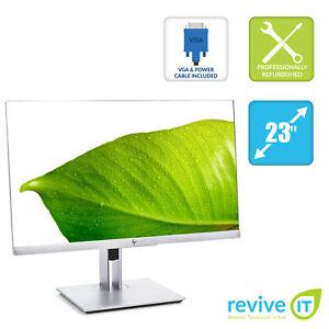 "HP EliteDisplay E223 22"" Widescreen 1920x1080 FHD IPS LED Monitor HDMI Grade B"