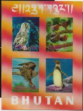 Bhutan Scott #104H, Souvenir Sheet 1969 Complete Set FVF MNH