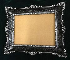 Cadre d'image NOIR-ARGENT ancien rectangulaire 56x46 baroque 30x40 Avec