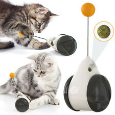 New listing Funny Interactive Feather Stick Ball Balanced Car Cat Teaser Tumbler Cat Toy
