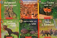 6 Mini Lino Bücher Tierkinder Bildergeschichten aus Serie 71 Ab 3 Jahren  +BONUS