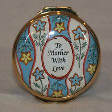 Halcyon Days Bilston & Battersea 27Th Edition Mothers Day 2001 Enamel Box Nib
