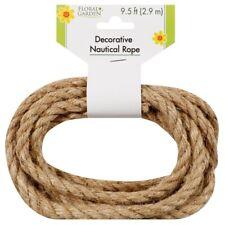 """2-9.5 ft Floral Garden Decorative Nautical Rope 3/8"""" diameter Craft DIY Natural"""