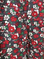 OshKosh Baby Girl Floral Corduroy Overalls One Pieces Red Green Size 18 Months