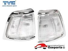 Pair LH+RH Corner Light Indicator Lamp Chrome For Toyota Hilux Ute 2WD 91~97