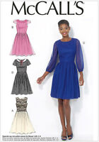 McCall's 7083 OOP Sewing Pattern to MAKE Retro Style Dress w/Sleeve Variations