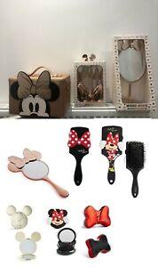 Primark Disney Mickey Minnie Mouse Makeup Brushes Hairbrush Mirror Vanity Bag