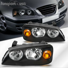 for 2004 2005 2006 Hyundai Elantra Black Headlights Lamps Replacement Left+Right