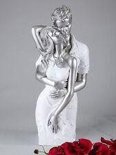 Dekofigur Skulptur Büste Paar weiß Silber 42cm Formano