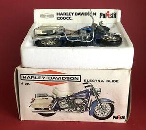 1975- Polistil 1/15 Harley Davidson Electra Glide Motorcycle No101 VGIB