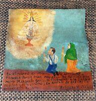"Retablo ""Thanks for Curing Me"" Original Folk Art Mexican Ex-Voto Painting"