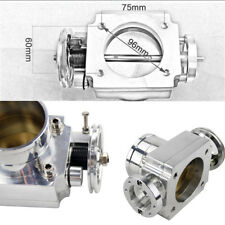 Silver Universal 70mm Bore Throttle Body max  airflow intake manifold billet