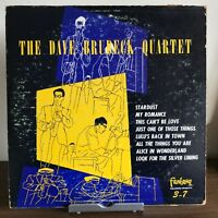 Dave Brubeck Quartet 1952 Vinyl Fantasy Records Green Colored Paul Desmond 10""