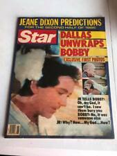 Vintage Star Tabloid Magazine - July 1, 1986 - Dallas, Bobby Ewing