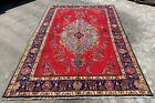 Hand Knotted Vintage Tabreez Serapi Wool Area Rug 9.8 x 6.5 FT (20014 HMN)