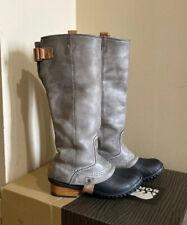 HTF STUNNING SOREL SLIMPACK rare CHARCOAL Rain/snow RIDING Boot WATERPROOF 9
