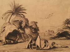 1837 Charles Theodore Frere Orientalist Drawing. Arabs In Algiers. Signed