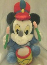 """New listing Vintage Disney Baby Mickey Mouse Plush Drummer Boy Applause 10"""" 80s 1980s Toy"""