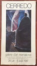 Affiche Exposition FABIAN CERREDO Galerie d'Art International 1987 *