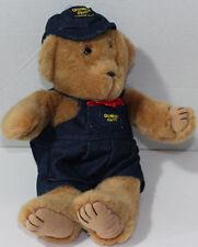 Eden OSH KOSH BEAR WITH DENIM OVERALLS and HAT Stuffed Plush Animal TOY NEW NWT