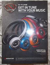 *NEW* (Unopened) Monster NCredible N-Tune Highpreformance Headphones - Black