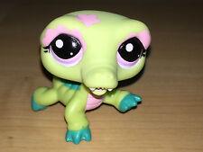 Littlest Pet Shop LPS Verde e Rosa Coccodrillo Viola Eye HASBRO giocattolo 2008 5 cm