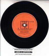 SIMON & GARFUNKEL  Bridge Over Troubled Water 45 record + juke box title strip