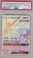 Pokemon Card : PSA 10 Gem Mint DUSK MANE NECROZMA GX 163/156 Secret Ultra Prism