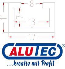 2m Aluminium C-Profil, Alu Profilschiene, Alu C Profil, passend für M8 Schraube