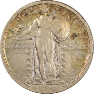 1920-D STANDING LIBERTY QUARTER, HIGH GRADE EXAMPLE, OLD MINOR SCRATCHES