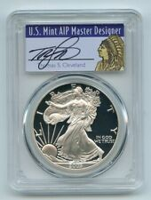 2003 W $1 Proof American Silver Eagle 1oz PCGS PR69DCAM Thomas Cleveland Native