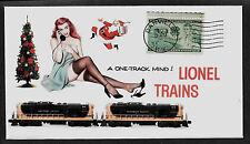 Lionel Trains 2349 Northern Pacific & Pin Up Girl on Collector's Envelope A254