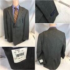Grant Thomas Blazer 43R Gray Wool Cashmere 2B 1v 43 R NWT $300 YGI E8-372