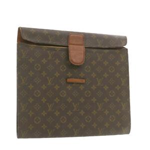 LOUIS VUITTON Monogram BriefCase Clutch Bag Vintage LV Auth rd2010