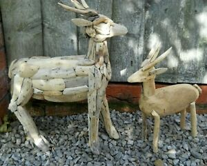 Amazing Driftwood Figure Deer Variants of Size Large 40 cm Small 30 cm Hand Made