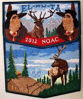 EL-KU-TA OA LODGE 520 GREAT SALT LAKE UTAH 2015 FLAP 2012 NOAC DELEGATE 2-PATCH