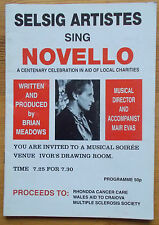 Selsig Artists sing Novello programme Ivor's Drawing Room 1993 John Lewis
