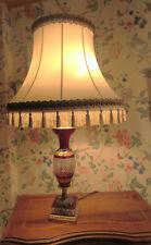 Kristall Tischlampe l Egermann Böhmen Gold-Ormeil   Messingfuß Jugendstil