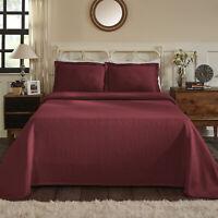 Jacquard Matelasse Cotton Floral 3 Piece Bedspread Set by Blue Nile Mills