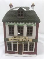 VINTAGE 1986 DEPARTMENT 56 M FEZZIWIG WAREHOUSE handpainted Dickens Village