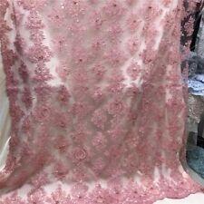 1 yd Bridal Lace Fabric Saree Sari Indian Mesh Net Tulle Organza Cotton silk w