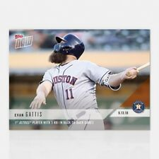 2018 TOPPS NOW #324 1ST PLAYER WITH 5 RBI IN BACK-TO-BACK GAMES - EVAN GATTIS